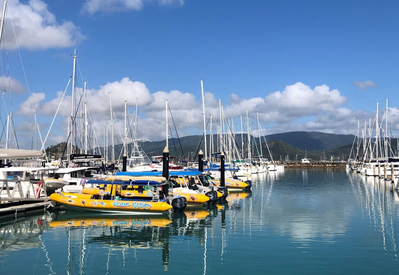 Ocean rafting and Whitsundays Harbour - photographer Olivia Lowe