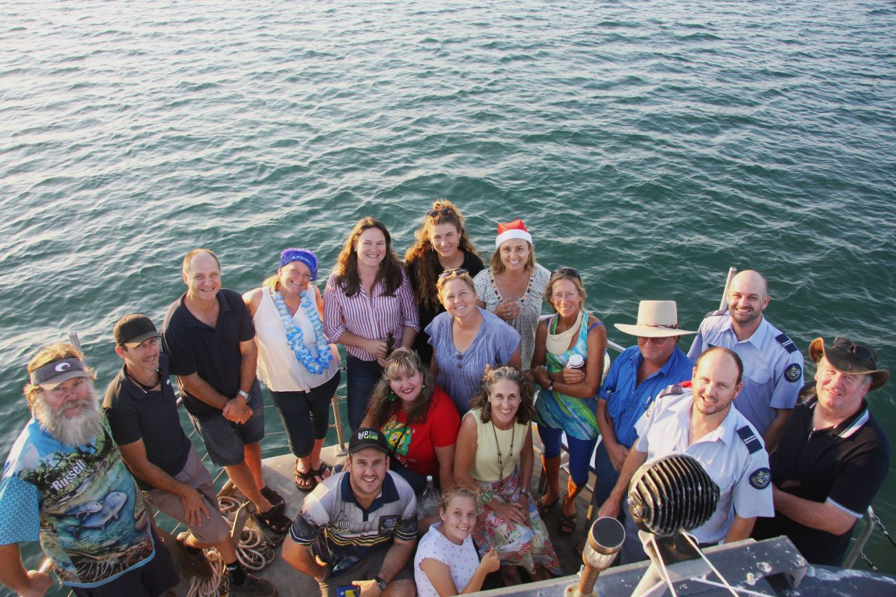 Local Marine Advisory Committee Group Photo out on the Great Barrier Reef