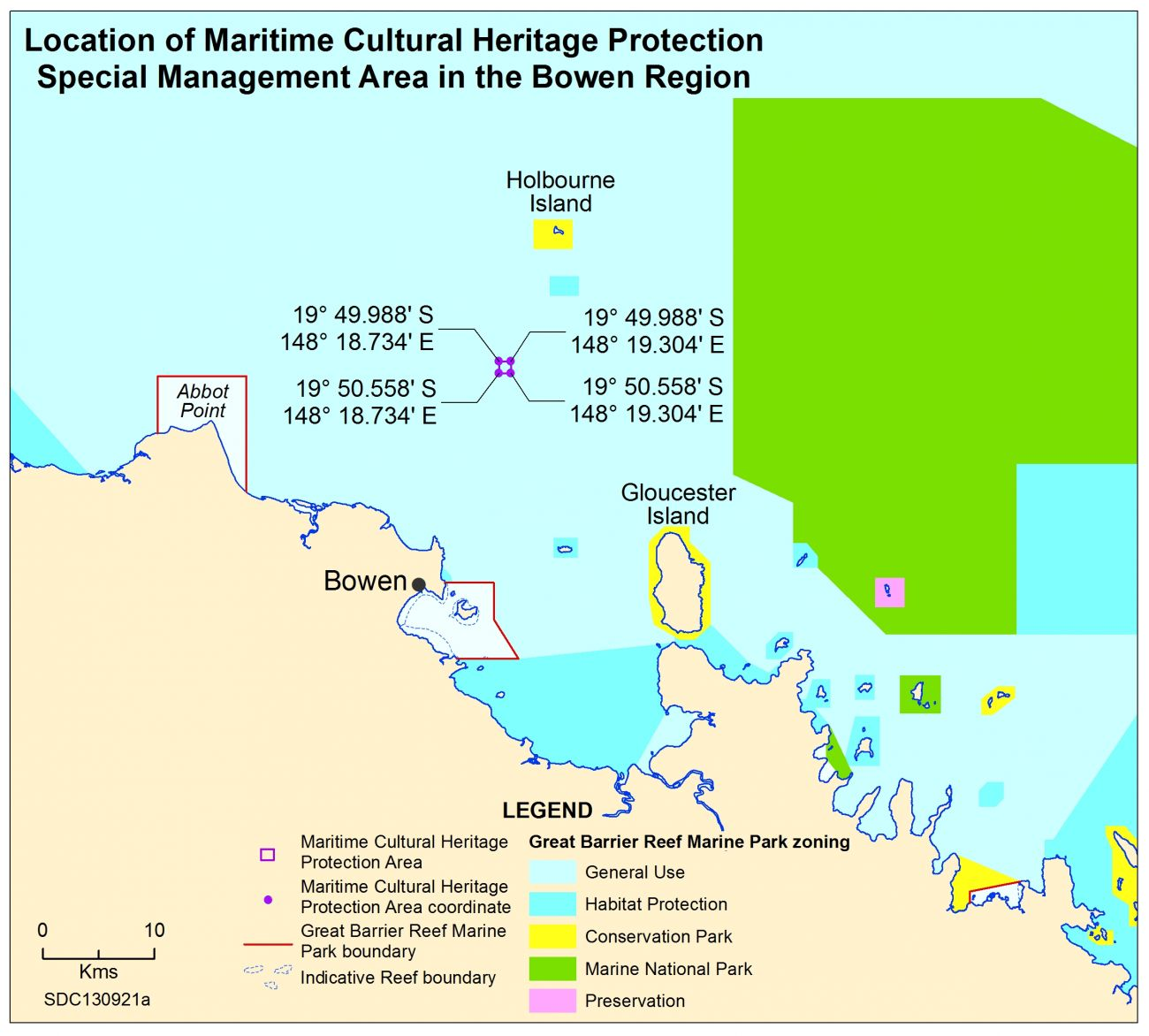 Location maritime cultural heritage protection Bowen Catalina Map