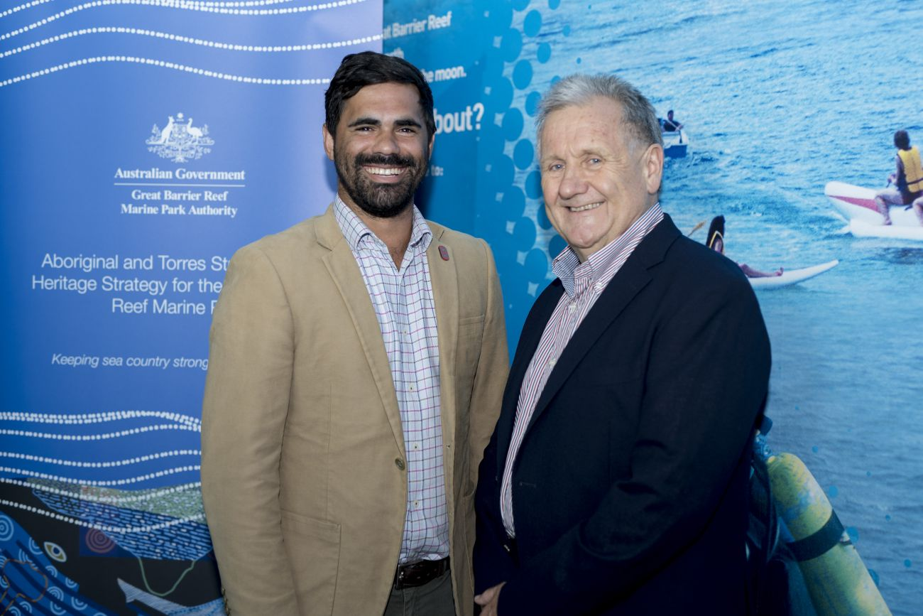 Marine Park Authority Board Chair Dr Ian Poiner Indigenous Reef Advisory Committee Deputy Chair Duane Fraser