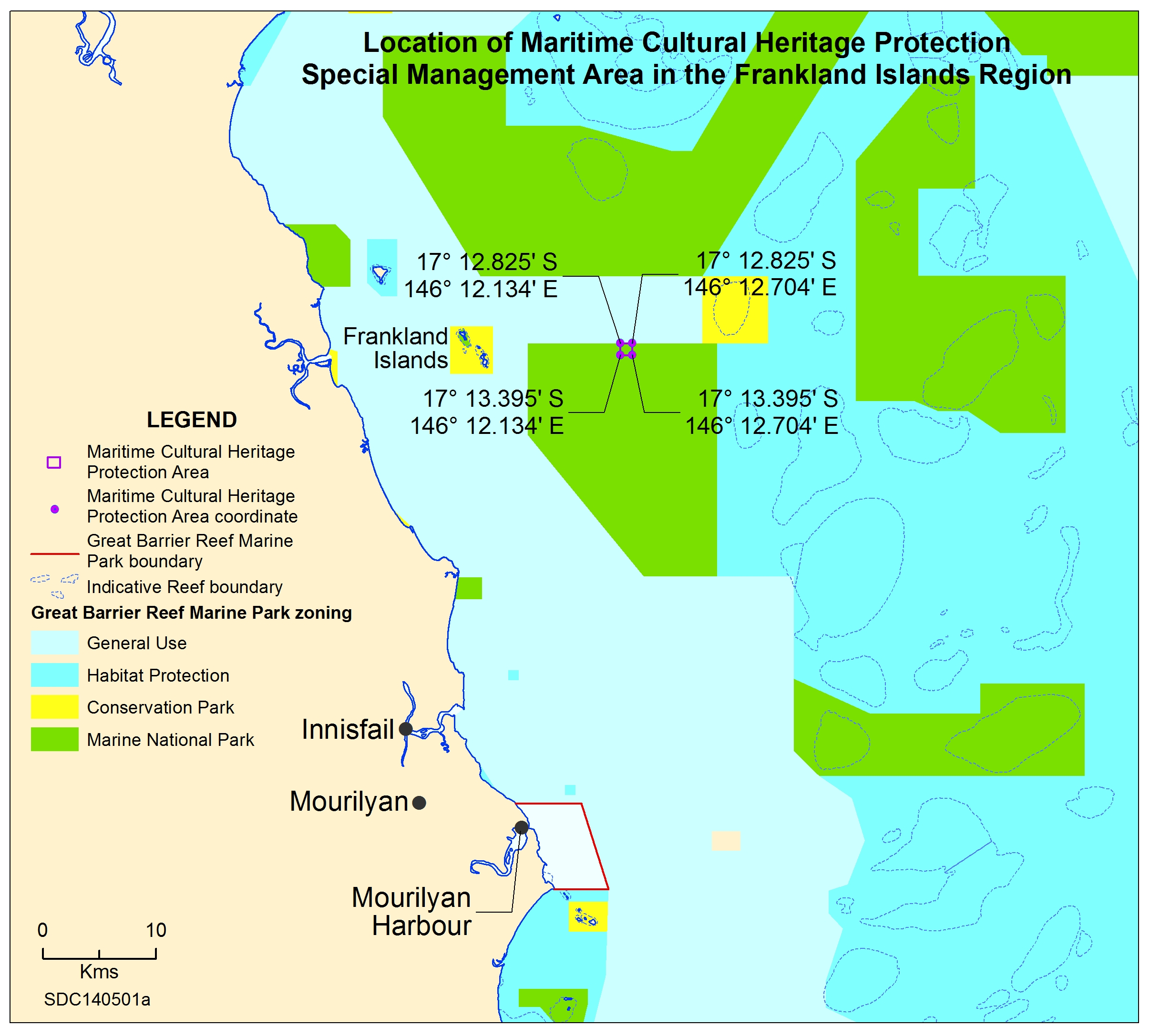Map of Frankland Islands Catalina Special Management Area