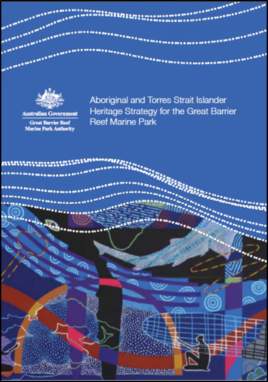 Image of the front cover of the Aboriginal and Torres Strait Islander Heritage Strategy