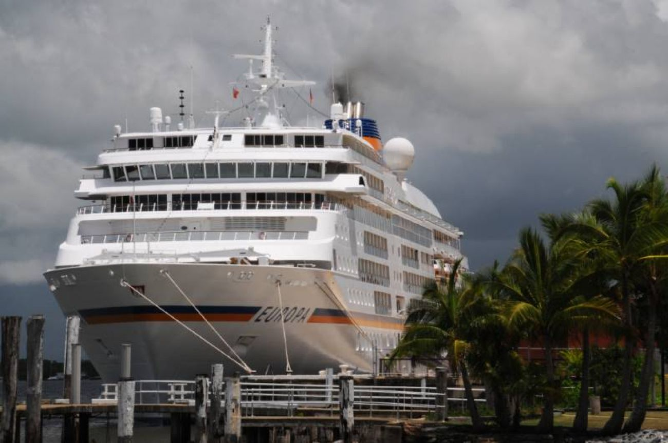 Cruise ship in Cairns