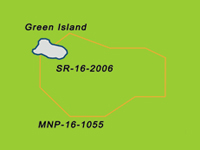 Figure 1 Image of Scientific Research Zone green with orange outline