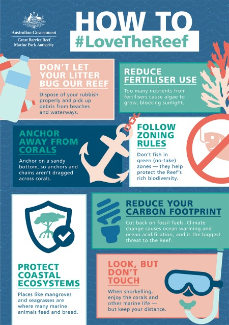 Ways for individuals to help reduce their impact on the Reef