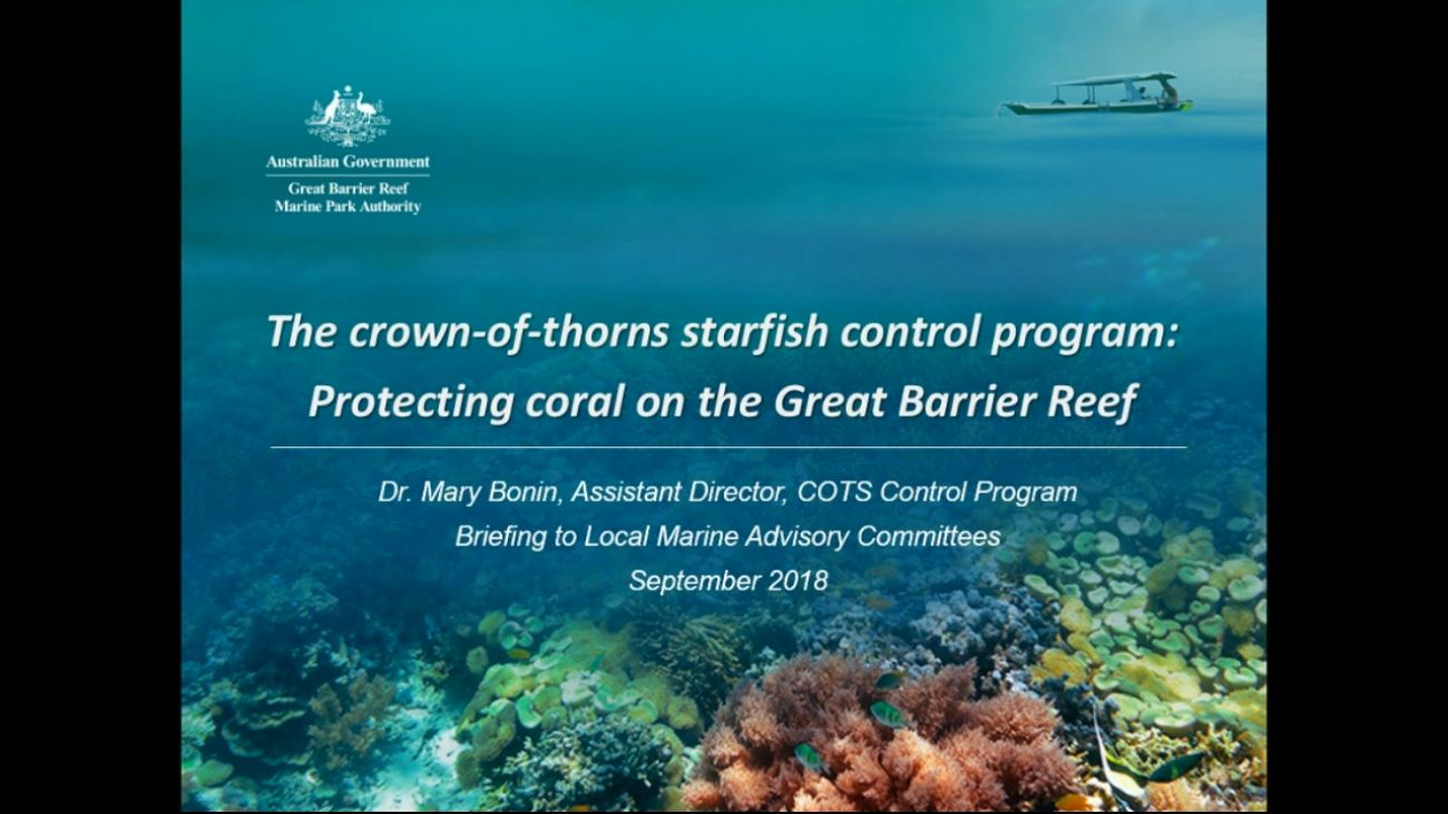 Protecting coral on the great barrier reef
