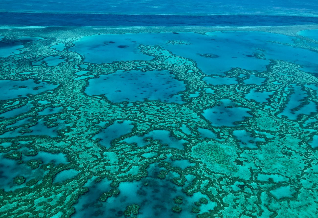 Whitsundays aerial outer Reef