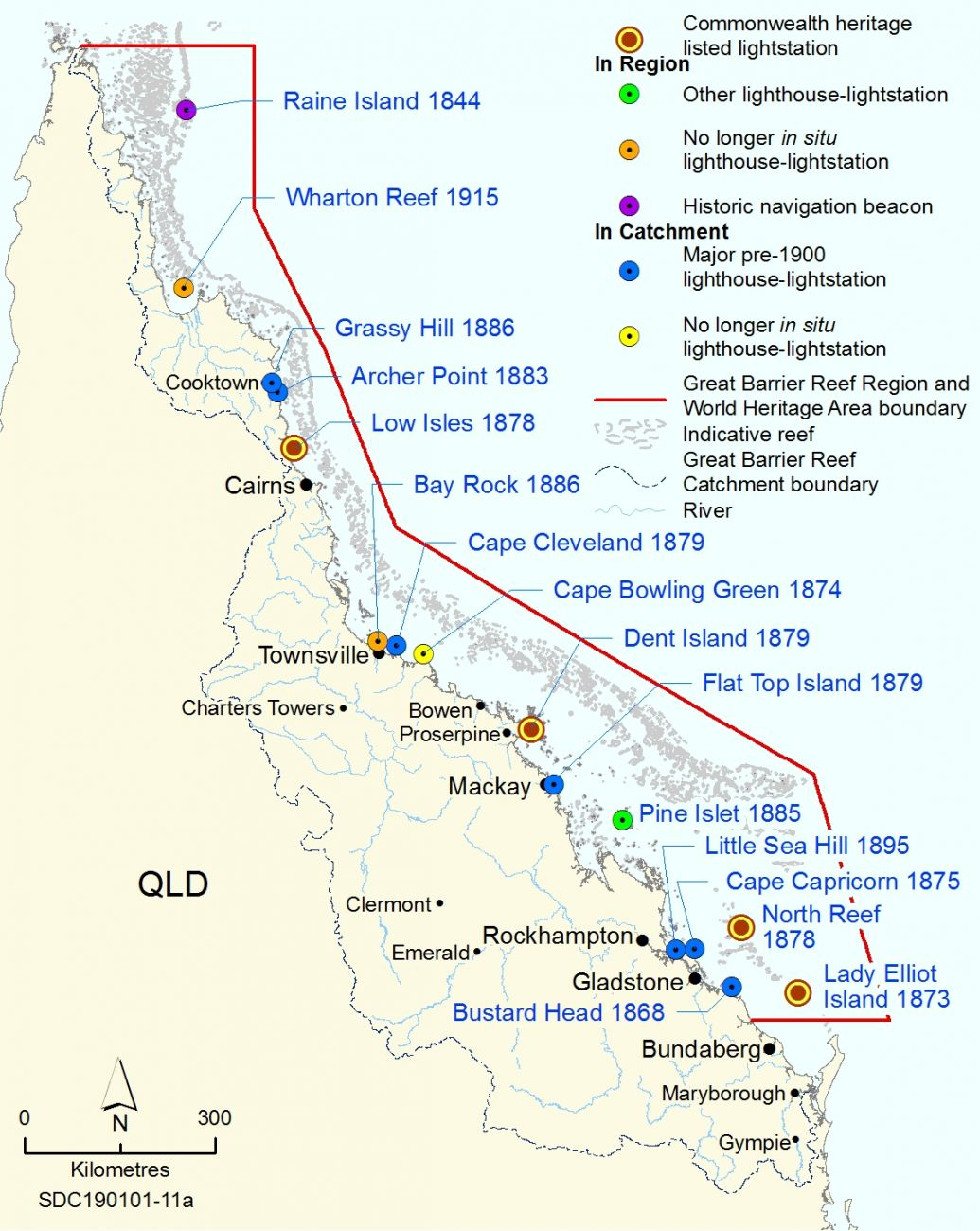 Historic lightstations and lighthouses in the Great Barrier Reef World Heritage Area