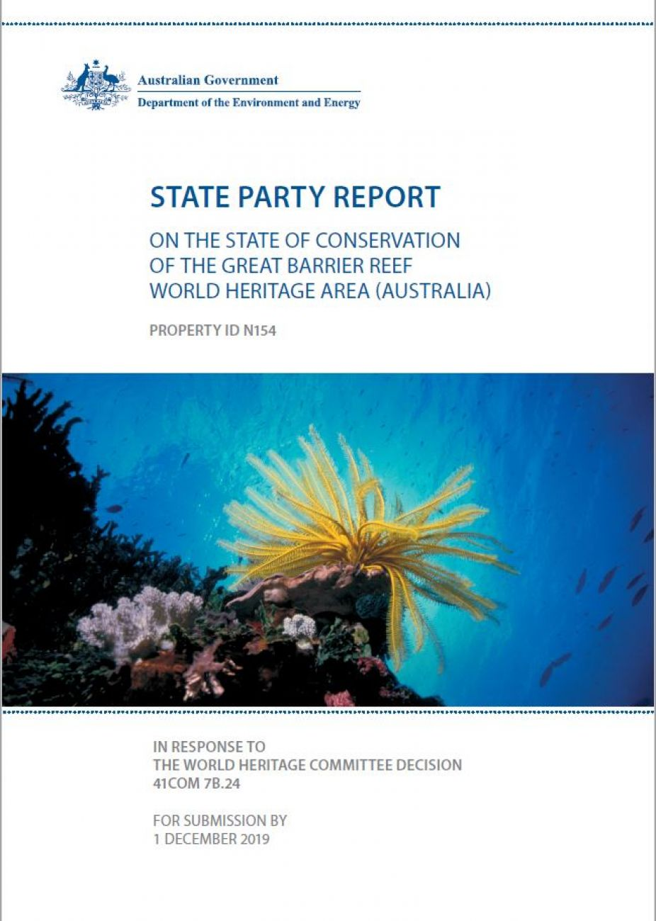 State Party Report on the state of the Reef